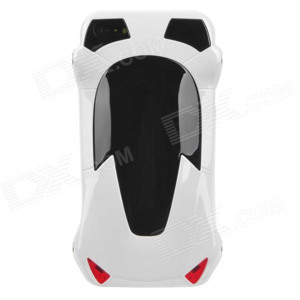 Sports Car Style Protective Plastic Case for Iphone 5 - White 3d water lines pattern protective pc back case for iphone 5 5c 5s black