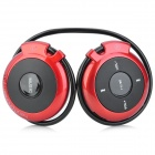 SH-S5 Rechargeable Sports MP3 Player Headphones Headset w/ FM / TF - Red + Black