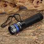 LED 60lm 3-Mode White Zooming Flashlight - Black + Blue (1 x AA / 1 x 14500)
