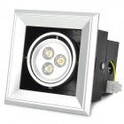 3W 300lm 3000K Warm White Light Downlight / Ceiling Lamp - Silver