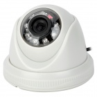 "Zhueran ZEA-AFS002 1/3"" CMOS 600TVL Surveillance Dome Camera w/ 8-IR LED - White (NTSC)"