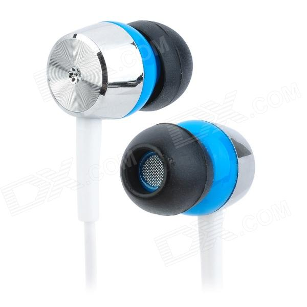 M&G ADG97903 Clear Bass In Ear Stereo Earphone - Blue + White (110cm-Length) moxo m 157 in ear stereo earphone