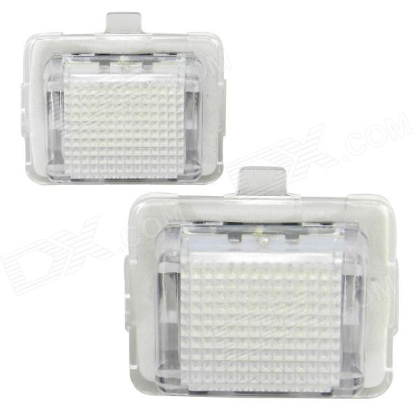 T10 3W 126lm 18-SMD 3528 LED White Light Car License Plate Light for Benz W204/W212/W216 (2 PCS)