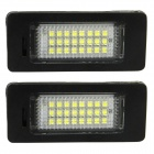 3W 168lm 24-SMD 3528 LED White Car License Plate Light for Audi TT07 Q5 08 / PASSAT R36 08 (2 PCS)