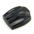 A381E Full Band Vehicle Car Radar Detector for GPS Navigator - Black (English Voice)