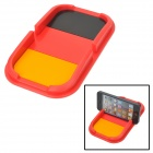 YB030609 Silicone Anti-Skid Pad for Cell Phone / GPS / Sunglasses / Coin - Black + Red + Orange