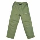 Sport Synthetic Fiber Detachable Quick Dry Trousers Pants - Army Green (Size XL)