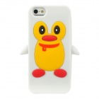 Cute Penguin Style Protective Silicone Back Case for Iphone 5 - White + Yellow + Red
