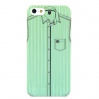 Shirt Pattern Matte Protective PC Back Case for iPhone 5 - Green + Black