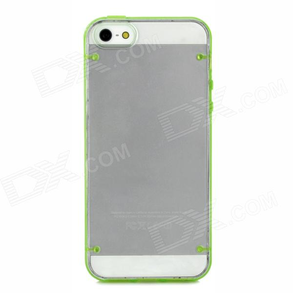 Protective Super Slim Plastic Case for Iphone 5 - Green + Transparent