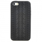 Creative Tire Pattern Protective Silicone Back Case for Iphone 5 - Black