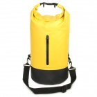 Water Sport Protective Nylon Waterproof Bag w/ Buckle - Yellow (25L)