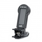 "Folding A6 1.3"" LCD Clip On Smart Tuner for Guitar / Bass / Ukulele / Violin - Black (1 x CR2032)"