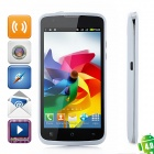"F328 Android 4.0 GSM Bar Phone w/ 4.5"" Capacitive Screen, Quad-Band, Wi-Fi and Dual-SIM - White"