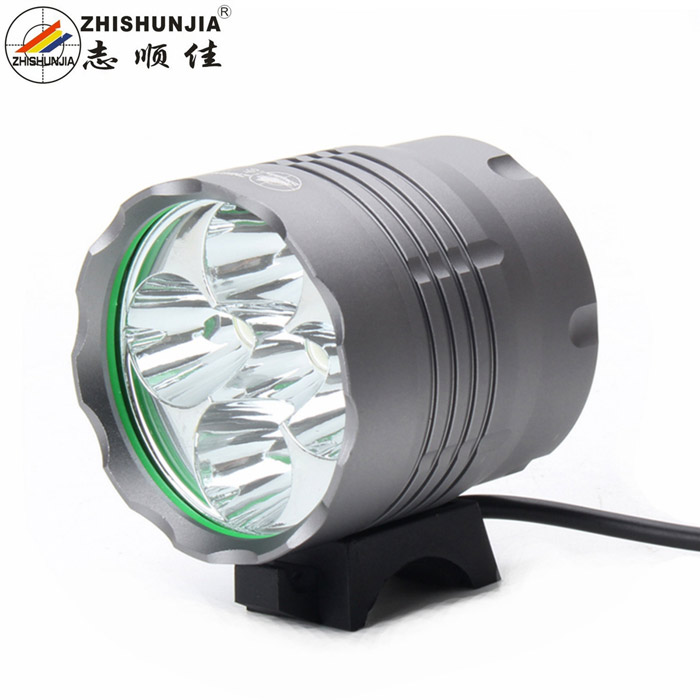 3200lm 3-Mode White Bicycle Headlamp w/ Cree XM-L T6 - Black Grey (6 x 18650) 2800lm 3 mode white bicycle headlamp w 4 x cree xm l t6 grey