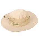 Cotton + Mesh Cloth Sun Block Soft Quick Dry Hat Cap for Fishing / Camping / Traveling - Beige