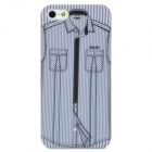 Protective Shirt Pattern Matte PC Case for iPhone 5 - Grey White + Black