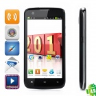 "F328 Android 4.0 GSM Bar Phone w/ 4.5"" Capacitive Screen, Quad-Band, Wi-Fi and Dual-SIM - Black"