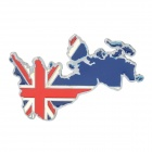 The British Flag Shape Alloy Car Decoration Sticker - Silver + Blue + White + Red