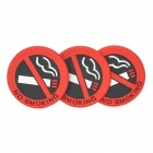 Universal Car Safety Warning Mark No Smoking - Red + Black (3 PCS)