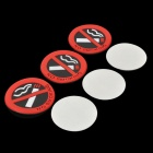 Universal Car Safety Warning Mark Não fumadores - Red + Black (3 PCS)