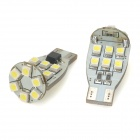 Decoding T15 110lm 18-SMD 1210 LED White Light Car Backup Bulb - Yellow + White (2 PCS / DC 12V)
