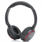 MRH-8001+ MP3 Player Stereo Headphones w/ FM / TF - Black + Red