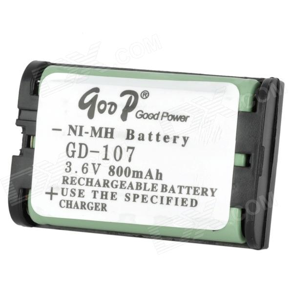 Goop GD-107 Cordless Phone Rechargeable 800mAh NiMH Battery - Black от DX.com INT