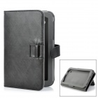 ENKAY ENK-7005 Protective PU Case w/ Stand / Card Slots for Samsung P3100 + More - Slate Grey