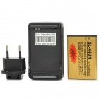 3.7V 2450mAh Battery + Universal US Plug USB Battery Charger for LG Optimus L5/P970/MS840 - Golden