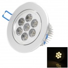 LGX1303W03 7W 300lm 3500K 7-LED Warm White Light Ceiling Light w/ LED Driver - White (90~265V)