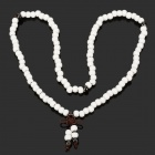Prayer Beads Stil Keramik Armband - White