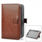 ENKAY ENK-7005 Protective PU Case w/ Stand / Card Slots for Samsung P3100 + More - Chocolate Color