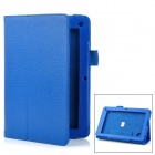 "Lychee Pattern Protective PU Flip-Open Case w/ Stand for 7.5"" Acer B1 - Deep Blue"
