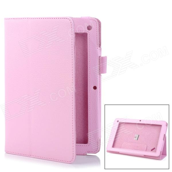 "Lychee Pattern Protective PU Flip-Open Case w/ Stand for 7.5"" Acer B1 - Pink от DX.com INT"