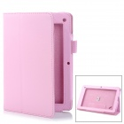 "Lychee Pattern Protective PU Flip-Open Case w/ Stand for 7.5"" Acer B1 - Pink"