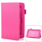 """Lychee Pattern Protective PU Case w / Stand für ASUS 7 """"Memo 172V - Deep Pink"""