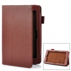 "Lychee Pattern Protective PU Case w/ Stand for ASUS 7"" MeMo Pad - Brown"