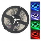 72W Waterproof 3600lm RGB 300-SMD 5050 LED Strip Light - White + Black (5M / 12V)