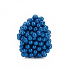 QST-216B 5mm Neodymium DIY Magnetic Building Bead - Blue (216 PCS)