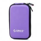 "ORICO PHF-25-PU PU Leather Zipper Bag for 2.5"" Portable Hard Drive / Camera + More - Purple"