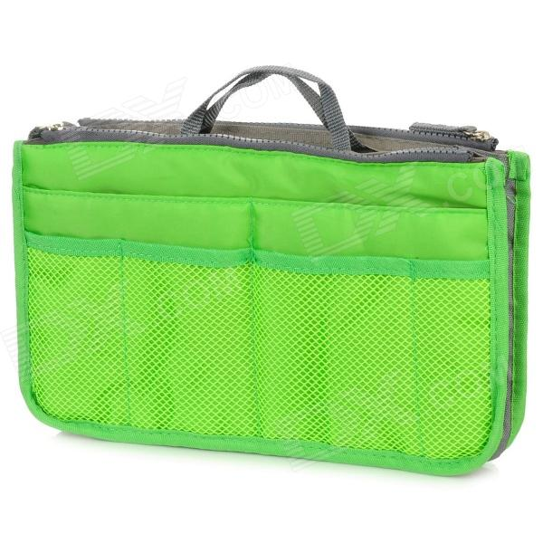 Multi-Functional Dual-Zipper Bag in Bag Thicken Storage Bag for Mobile Phone / Wallet - Green + Grey от DX.com INT