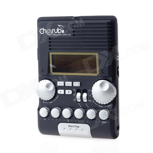 Cherub WRW-106 7 LCD Screen Drum Rhythm Trainer Metronome - Black cherub 1 recruit