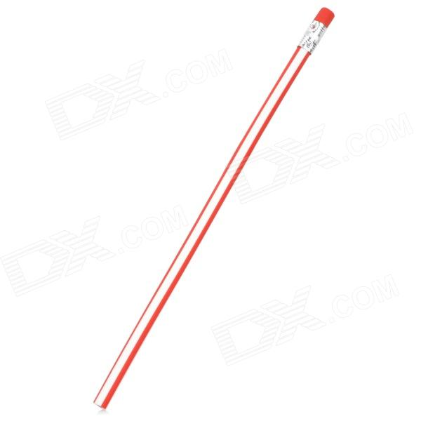 ZX0229 Magic Flexible Soft Pencil w/ Eraser - White + Red