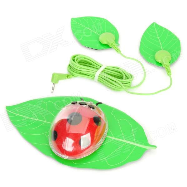 Beetle Shape Electric Body Slimmer Sticker - Green + Black + Red (1 x CR2032) fragile warranty sticker shall be null and void the warranty and black and red round 0 25 cm vulnerable if mobile