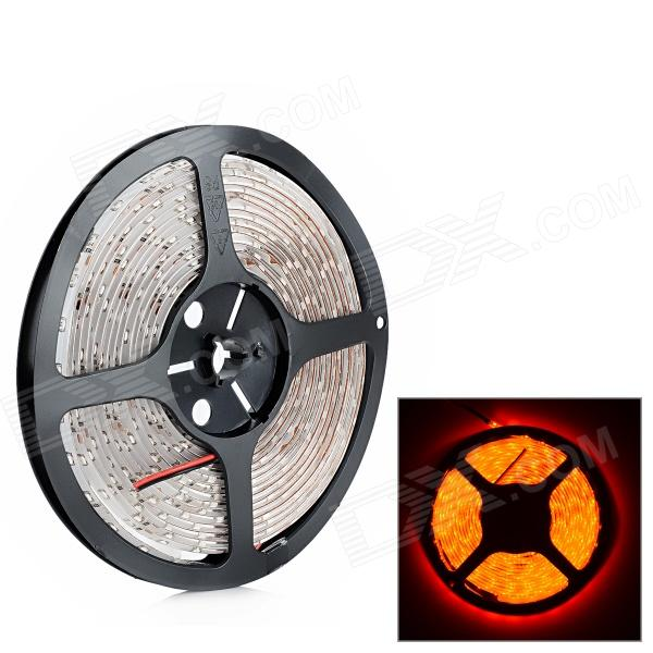 Waterproof 24W 500lm 300-3528 SMD LED Red Light Car Decoration Flexible Strip (DC 12V / 5m)