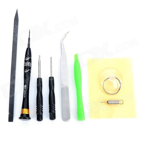 WTS-122 Opening Repair Tools Set for Iphone 5 - Black + Green + Silver