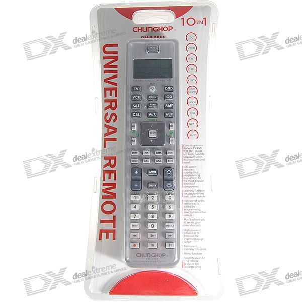 "Chunghop Microsoft Xbox-Compatible 1.6"" LCD 10-Device Universal Remote Controller (3*AAA)"