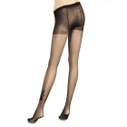 Cat Pattern Ultra-Thin Velvet Silk High Pantyhose Stocking for Women - Black