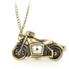 HB-211 Antiquing Motorcycle Style Pocket Watch w/ Necklace Chain - Bronze (1 x LR626)